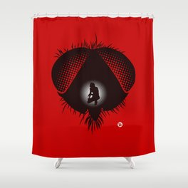 The Fly (Red Collection) Shower Curtain