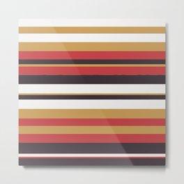 Pattern Bandes Colors Metal Print