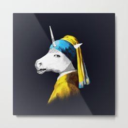 Cool Animal Art - Funny Unicorn Metal Print