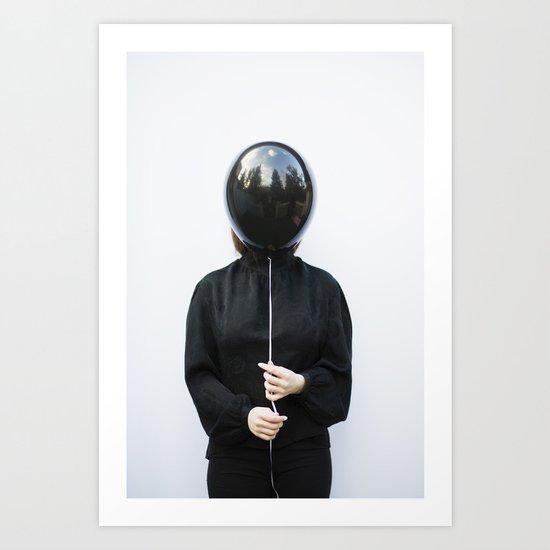 Behind the balloon Art Print