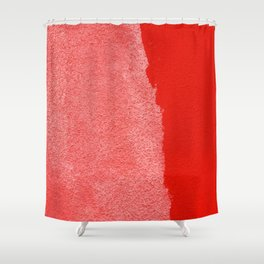 Two Times Red Shower Curtain