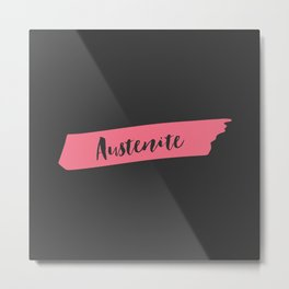 Pink Brush Austenite Metal Print