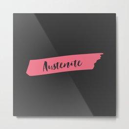 Pink Brush Austenite Metal Print