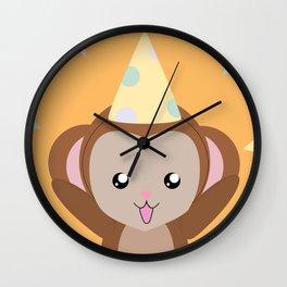 Party Monkey Wall Clock