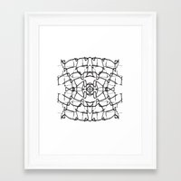 the wire Framed Art Prints featuring wire by kartalpaf