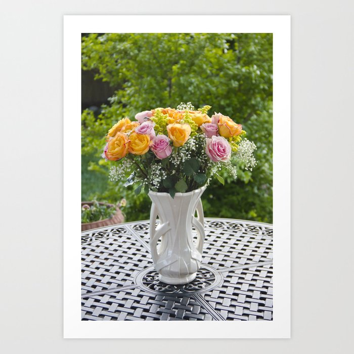 225 & Flowers in McCoy Vase Art Print
