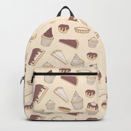 Chocolate Pastry Pattern Backpack