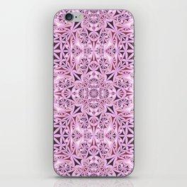 Pink kaleidoscope wallpaper iPhone Skin
