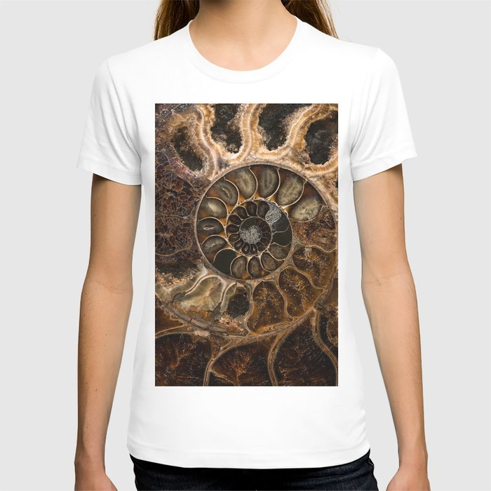 Earth treasures - Fossil in brown tones T-shirt