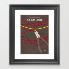 No746 My The Hurt Locker minimal movie poster Framed Art Print