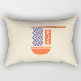 Ramen Japanese Food Noodle Bowl Chopsticks - Cream Rectangular Pillow