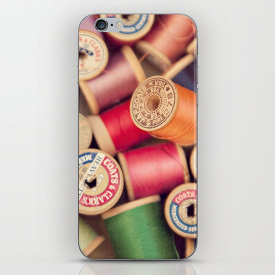 vintage spools iPhone & iPod Skin