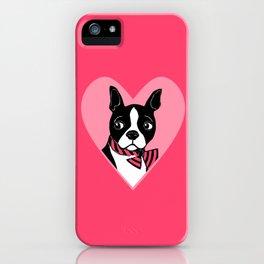 Boston Terrier Love iPhone Case