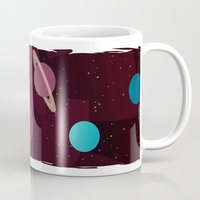 solar system Mugs featuring Solar System by badOdds