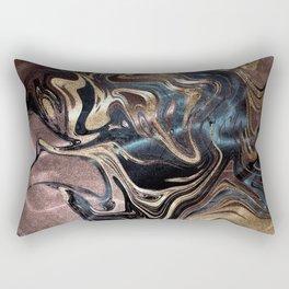 Deep Liquid Gold Rectangular Pillow