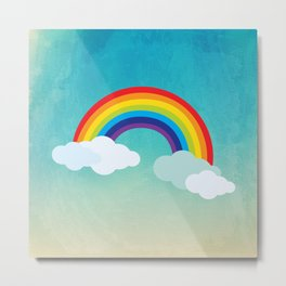 Rainbow in the sky , nursery decor , children gift, birthday gift Metal Print