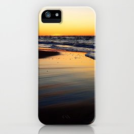 Beach after the Wave at Sunset iPhone Case
