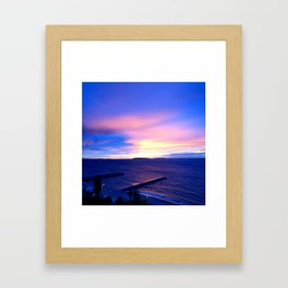 Blue Sunset in Cannes La Bocca Framed Art Print
