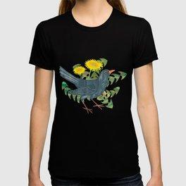 Blackbird & Dandelions T-shirt