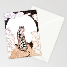Tiger Moon Glow Stationery Cards