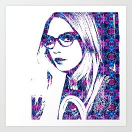 Cara in the city Art Print