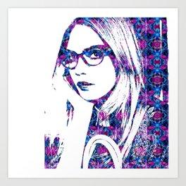Cara in the city Art Print