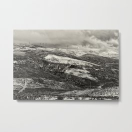 Snow in the big mountains Metal Print