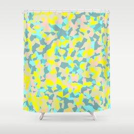 geometric mix/ bright Shower Curtain