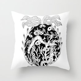 Sea Creature Feature Throw Pillow