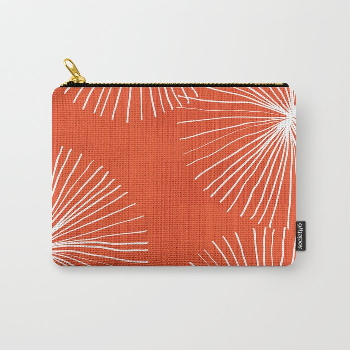 Dandelions in Red by Friztin Carry-All Pouch