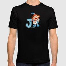 j for jongleur Mens Fitted Tee Black MEDIUM