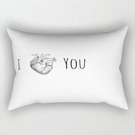 I heart you in an anatomical way Rectangular Pillow