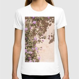 Lila Flowers In The Sun Summer Photo | Colorful Floral Travel Photography In France Art Print | Colors Of Europe T-shirt