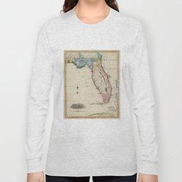 Vintage Map of Florida (1823) Long Sleeve T-shirt