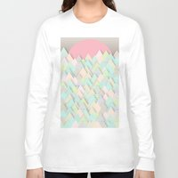 pastel Long Sleeve T-shirts featuring Forest Pastel by dogooder