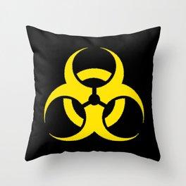 Hazard biologic warning signal design Throw Pillow