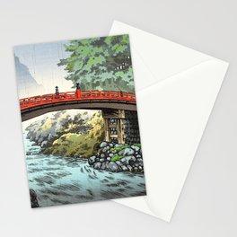 Tsuchiya Koitsu - Nikko, Sacred Bridge - Japanese Vintage Woodblock Painting Stationery Cards