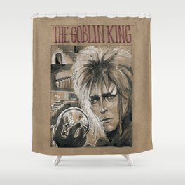 Bowie - Goblin King (DRAWLLOWEEN 3/31) Shower Curtain