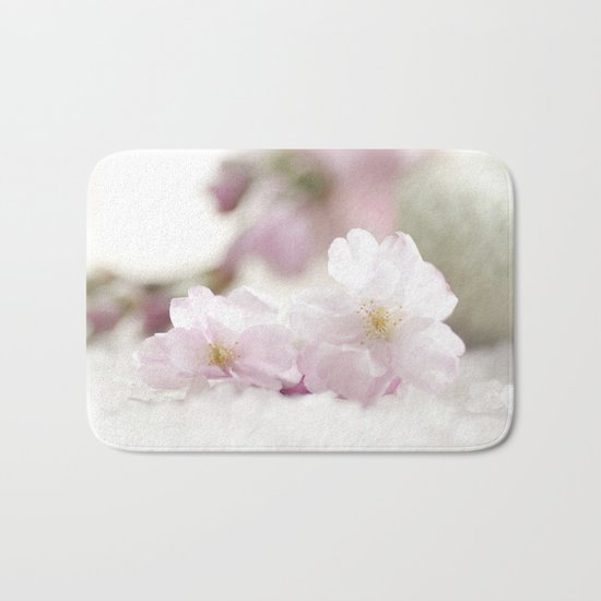 Delicate and fliligrane flowering of the almond tree Bath Mat