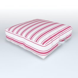 Bright Pink Peacock Mattress Ticking Wide Striped Pattern - Fall Fashion 2018 Outdoor Floor Cushion