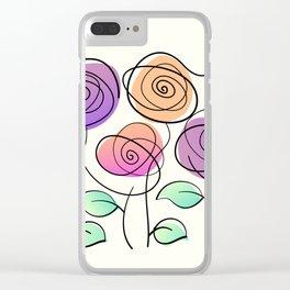 Half A Dozen Roses Clear iPhone Case