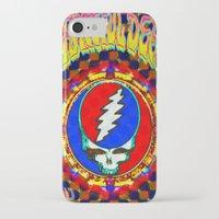 grateful dead iPhone & iPod Cases featuring Grateful Dead #8 Optical Illusion Psychedelic Design by CAP Artwork & Design