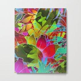 Floral Abstract Artwork G125 Metal Print