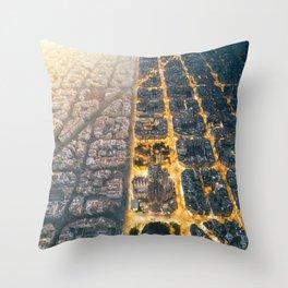 Light & Dark Throw Pillow