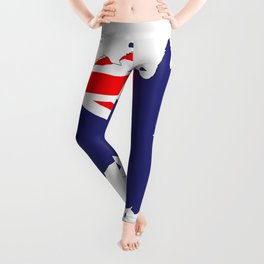 Australia Flag Map Leggings