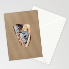 Let the black and white man out Stationery Cards
