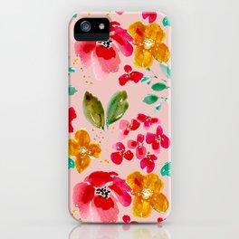 Poppy in Pink iPhone Case