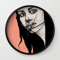 lip Wall Clocks featuring Lip Ring by fossilized