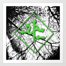 Arrows - Green Art Print