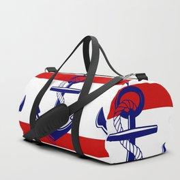 Nautical Red Duffle Bag